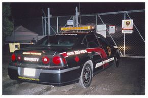 Patrol car at night